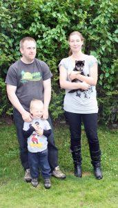 Lexi med sin nye famile