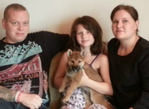 Mushu med sin nye familie